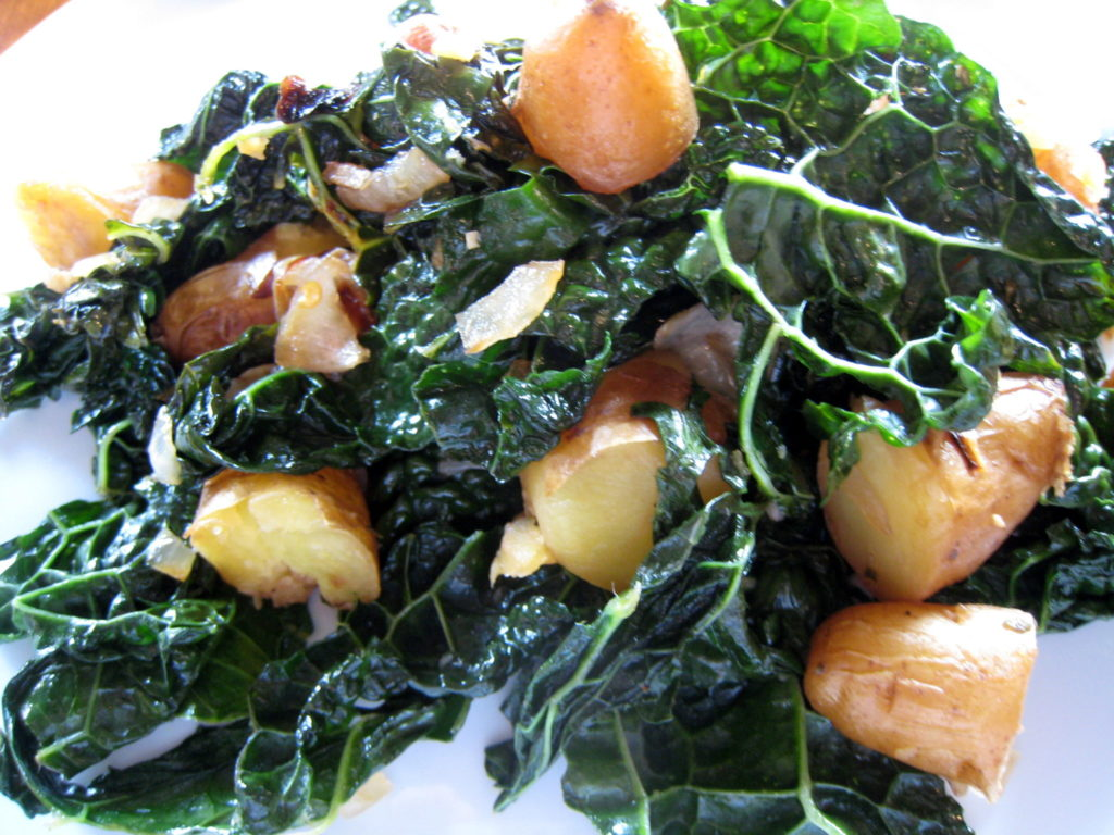 Warm Tuscan Kale and Fingerling Potatoes