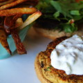 Chickpea Burgers with Tatziki Sauce