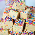 Vegan Cake Batter Fudge
