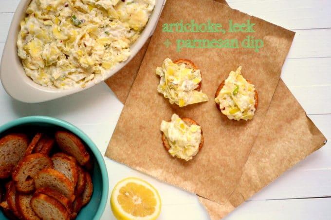 Artichoke, Leek and Parmesan Dip