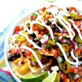 Vegan Supremely Sassy Nachos by blissfulbasil.com