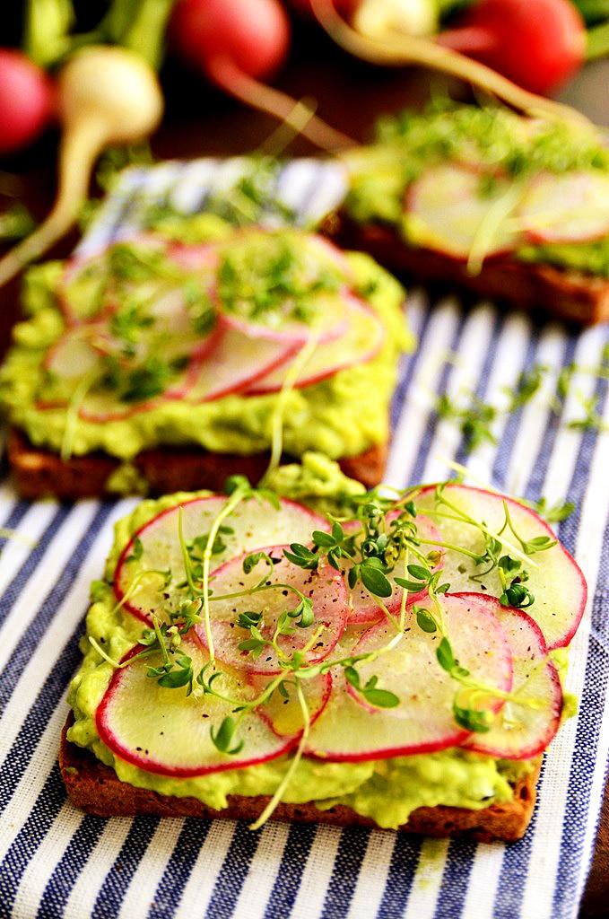 Springtime Avocado and Radish Toasts - Blissful Basil | Plant-Based ...