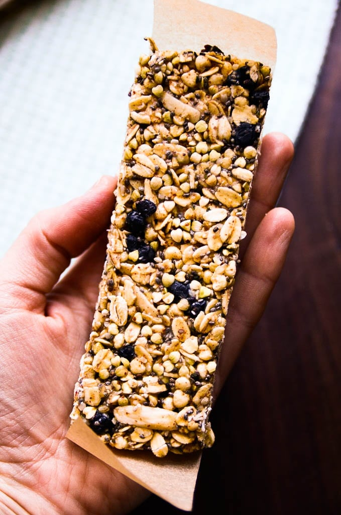 Blueberry Buckwheat Granola Bars