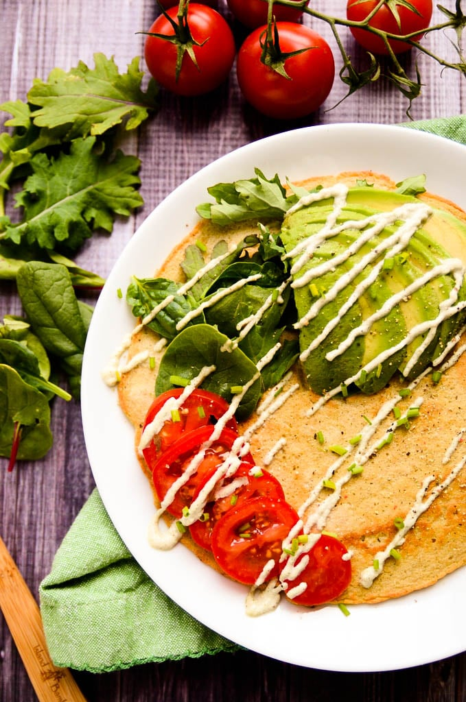 Savory Lentil and Quinoa Protein Pancakes