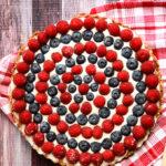 Festive Raspberry & Blueberry Tart | Vegan