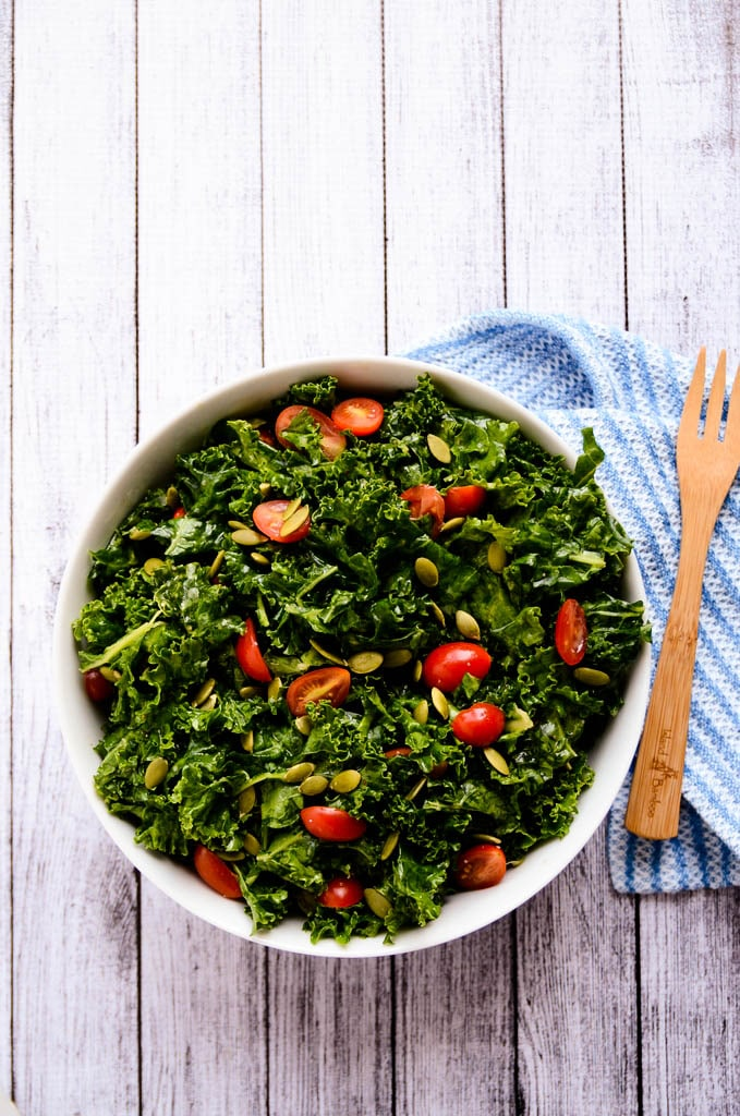 Enlightening Marinated Kale Salad