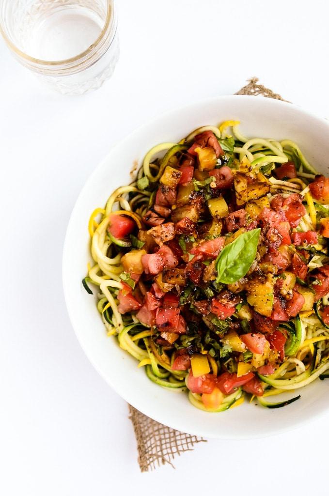 Heirloom Tomato Zucchini Pasta
