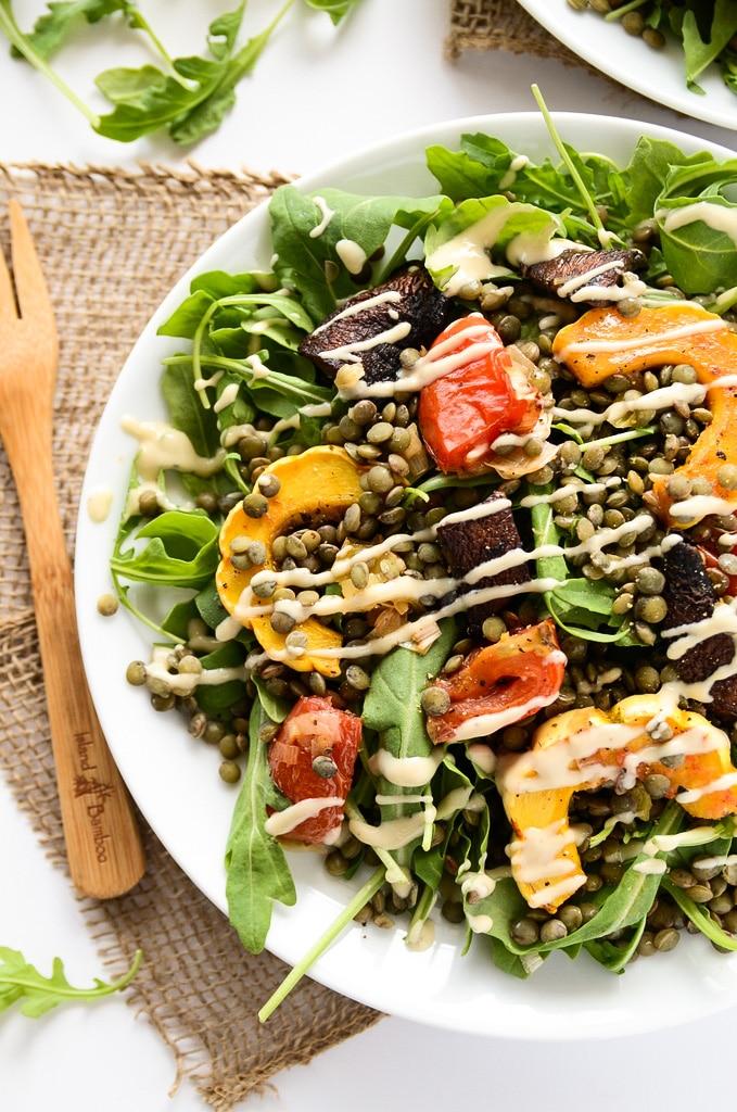 French Lentil and Roasted Vegetable Salad