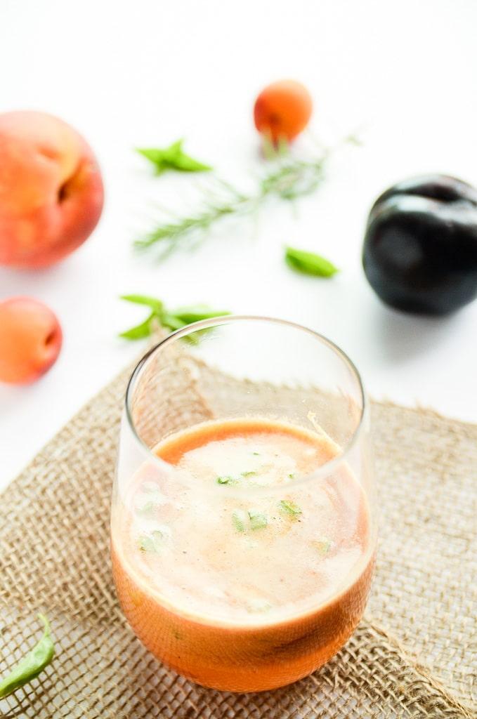 Late Summer Stone Fruit & Fresh Herb Sangria - Blissful Basil | Plant ...