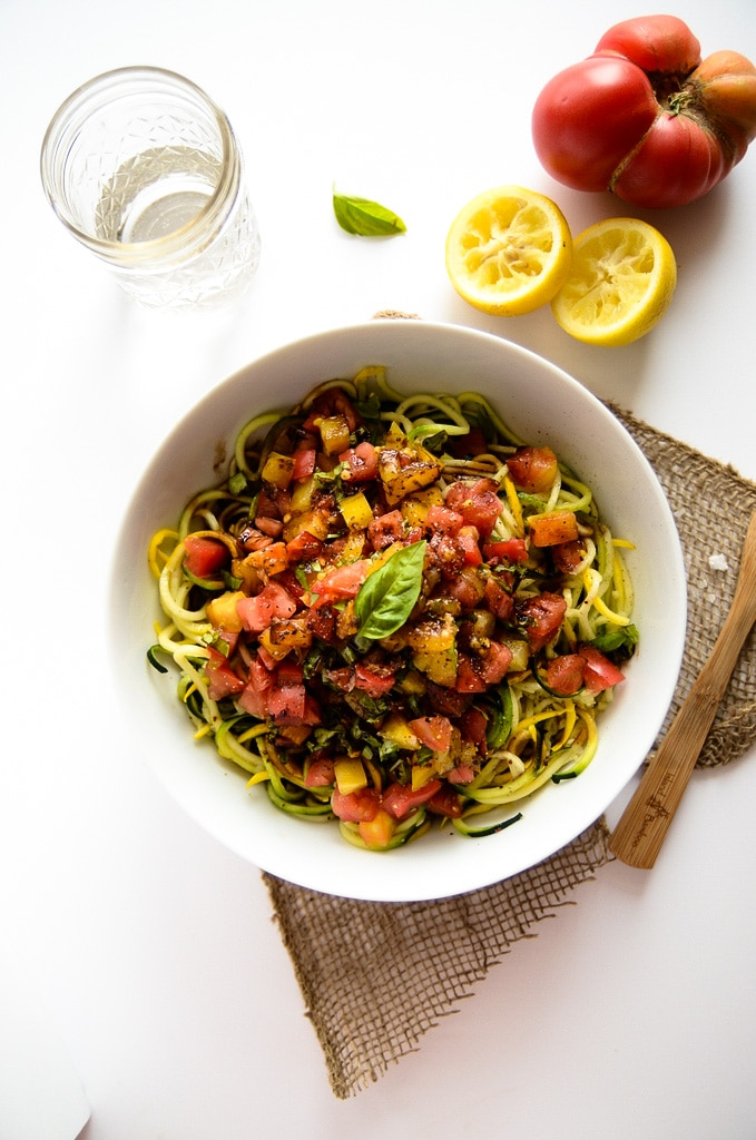 Heirloom Tomato Zucchini Pasta