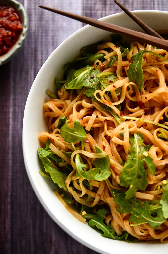 Simple Sesame + Spice Rice Noodles - Blissful Basil | Plant-Based ...