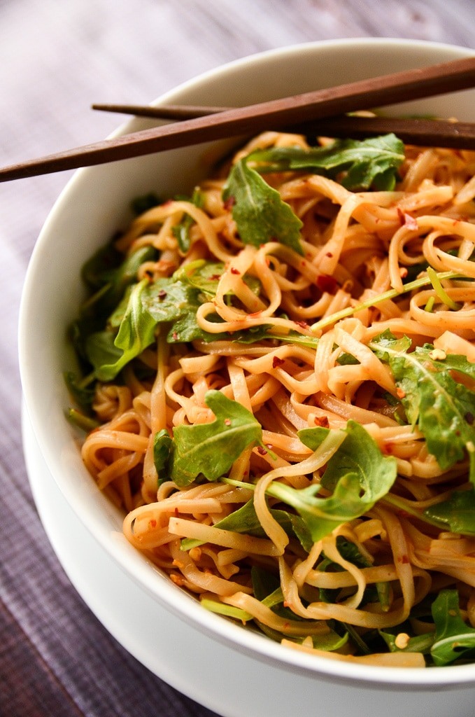 Simple Sesame and Spice Rice Noodles