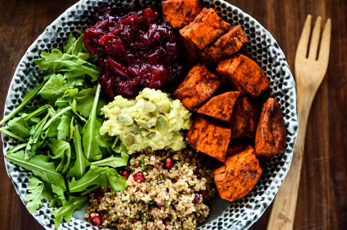 Sweet Potato, Cranberry + Quinoa Power Bowl