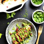 7-Ingredient Hasselback Sweet Potatoes with Avocado Aioli | vegan, gluten-free