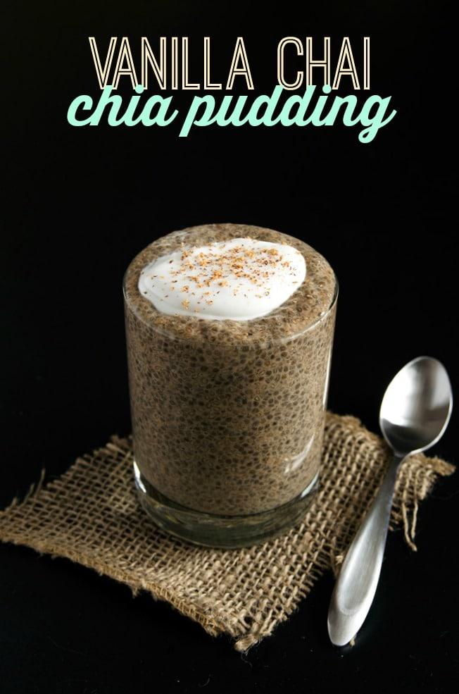 Vanilla Chai Chia Pudding (vegan, gluten-free)