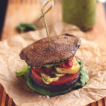 Roasted Vegetable Sandwich with Avocado-Basil Aioli