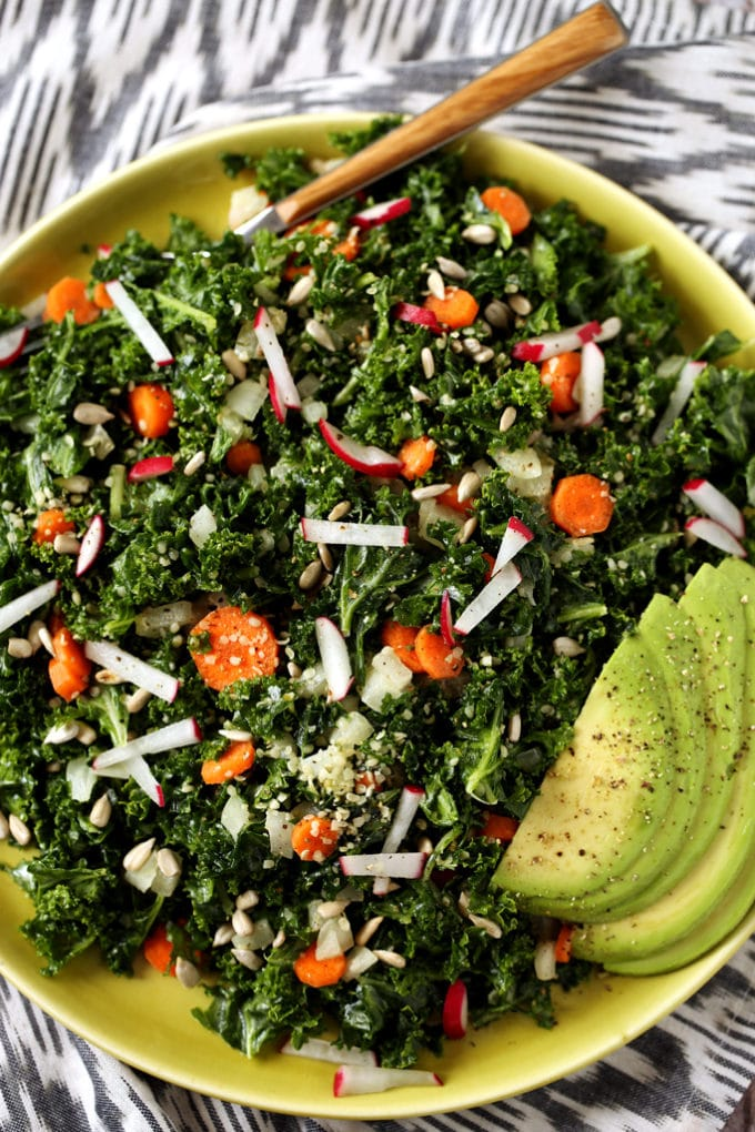 5-Step Raw Kale Salad from Kathy Patalsky's Healthy Happy ...