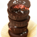 Dark Chocolate & Strawberry Chia Jam Cups (vegan, gf)