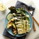 Grilled Avocado & Romaine Caesar Salad (vegan, gf)