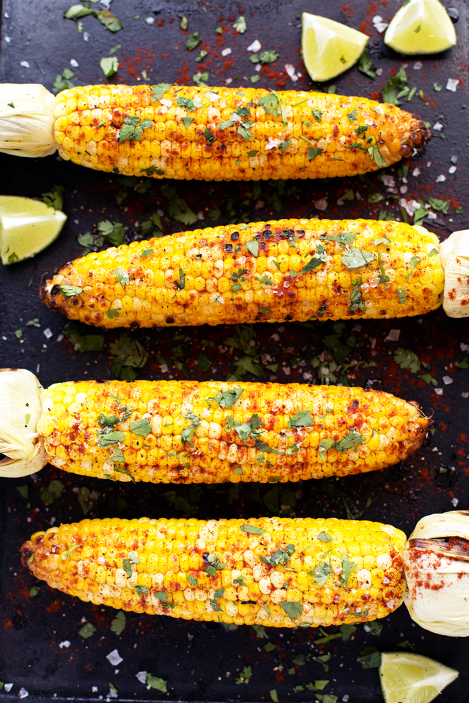 Grilled Cilantro, Lime, and Paprika Corn on the Cob