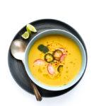 Chilled Vegan Sweet Corn & Cauliflower Bisque