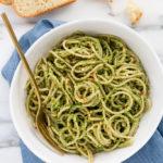 Roasted Broccoli-Pepita Pesto Pasta (vegan, gluten-free)