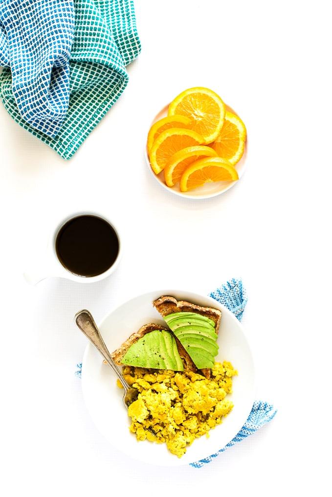 "Vegan Scrambled ""Eggs"" Made with Aquafaba"