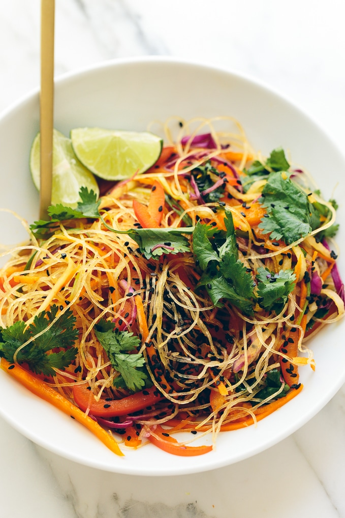 ... Glass Noodle Crunch Salad with Chile-Lime Vinaigrette - Blissful Basil